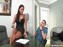 Busty Office Beauty Pleasures His Big Cock