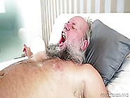 Old Man With A Beard Is Drilling A Young Girl'S Soft Pussy,  Whil