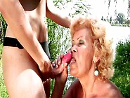 Young Slut Fucks Granny's Juicy Pussy With Strapon