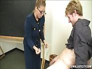 Female Teacher Bangs Student