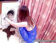 Ladyboygold Movie: Laundry Ladyboy Creampie