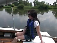 European Honey Shara Jones Stretched Onto Boat
