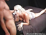 Blonde Chick And A Handsome,  Black Guy Are Having Sex In Front O