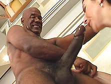 Black Babe Gets A Huge Cock Deep In The Butt