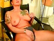 Intense Dildo Solo Tattoo Girl Judith