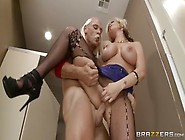 Pleasing Busty Mom Kate Frost Giving An Anal Job