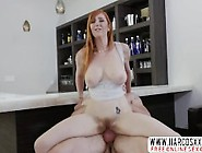 Redhead Step Mother Lauren Phillips Gets Cream Pie