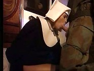 Soldier Giving Italian Nun German Lessons