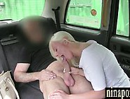 Nasty British Blonde Sucks Off Taxi Driver For Free Ride