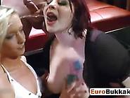 Filthy Bisexual Hookers Weird Bukkake Drinking Cum On Funnel Vid