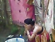 Desi Outdoor Bath Scene Captured By Neighbor