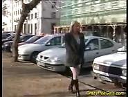 Blonde Masturbating In Public