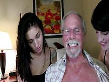 Alex And Naomi Share An Old Man's Hard Cock