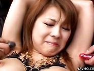 Sakurako Teen Asian Tied Not Far From Toys!