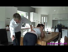 Girl With A Fat Ass Bent Over And Spanked Hard