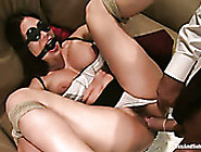 Lewd Doctor Fucks Submissive Tied Up Brunette Patient's Hairy Cu