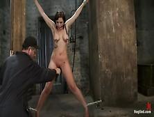 Girl Next Door Gets Bound Spread,  Pussy Floggednipples Tortured,