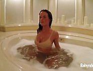 Rahyndee James Pornstar Bathtub Masturbation