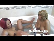 Thick Lesbian Redbones Strapon Golden And Thickred By Hooded Fuc