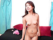 Palpitating Asian Solo Model Fingering Her Shaved Pussy Close Up