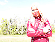 Public Sex In A Park With A Blonde In A Leather Jacket