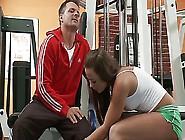 Personal Trainer Fucks Brunette