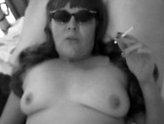 Jeanie Rose Smoking & Dangling Whilst Getting Pumped (B&w Versio