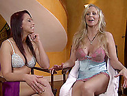 Buxom Lesbian With Long Blonde Hair Getting Her Pink Pussy Licke