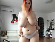 Favorite Yummy Huge Natural Tits Redhead Sex Show