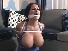 Huge Tit Slut Tied Up In Bondage