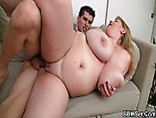 Cooking bbw enjoys riding his meat 5