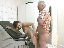 Brunette Fucked By A Old Man