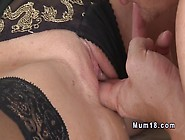 Mature Gets Pussy And Ass Licked From Young Guy