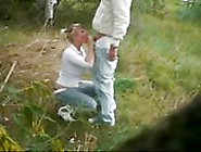 They Get Caught On Camera Fucking In A Field