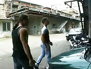 Rough Gang Bang On A Car Garage By Tb