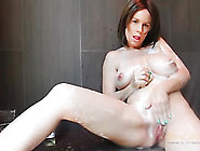Busty Mom Gets Clean And Pisses In The Shower