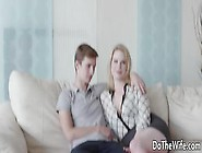 Curvy Russian Blonde Adry Berty Cuckolds Husband And Rides Well-
