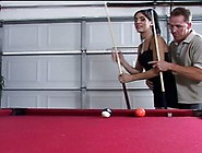 Nasty Brunette Fucked Hard After Awesome Billiards