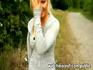 Curvaceous Blonde Bombshell Jogging Outdoors Ends Up Getting Fuc