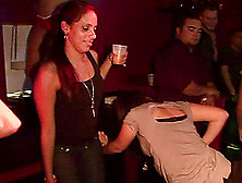Amateur Party Chics Dance Skin To Skin While Drunk In The Club
