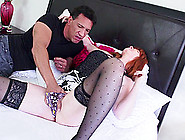 Granny In Stockings Is Too Horny To Reject A Missionary Style Ac