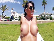 Franceska Jaimes Flashing Her Big Juicy Tits In Public