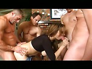 Nasty Slut Sucks Off The Whole Gang