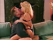 Vintage Busty Blonde April Adams Facial And Cum Kiss