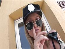 Blonde Cop Kathia Nobili Fun