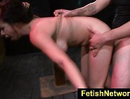 Cock Slamming Chained Up Kimmie Lee