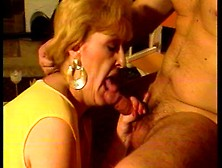 Sexy Blonde Grandma Sucking A Big Hard Cock