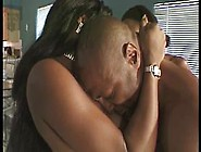 Two Gorgeous Black Women Share Thick Black Dick On A Co