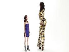 "Super Tall Amazon Ashley 7'2"" In High Heels"