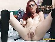 Cute Skinny Redhead With Glasses Struggle